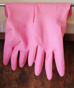 Bei einer Latexallergie können Gummihandschuhe die Latex enthalten zu allergischen Symptomen führen.