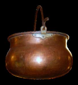 Ein Kupferkessel, zu englisch boiler, leitet und hält gut Hitze. Daher nutzt man Kupferrohre auch gern im Heizungsbau.