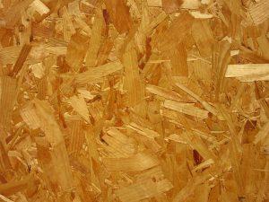 Spanplatten, auf Englisch chipboard, können Formaldehyd enthalten.